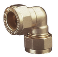 Brass Compression Elbow Bend for Copper Pipe