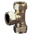 Brass Compression Tee for Copper Pipe