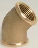Brass Threaded Elbow 45°