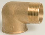 Brass Threaded Male/Female M/F Elbow 90°