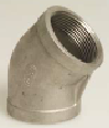 Stainless Steel Threaded Elbow 45°