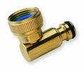 Hoselock type brass quick connector swivel elbow