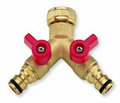 Hoselock type brass quick connector Tap Splitter