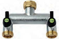 "¾"" threaded Two way Tap Brass Quick Connector (Hozelock Compatible)"
