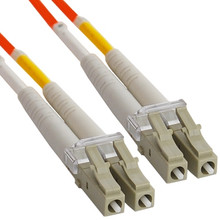 OM2 LC to LC Multimode Duplex Fiber Optic Cable - 1 meter