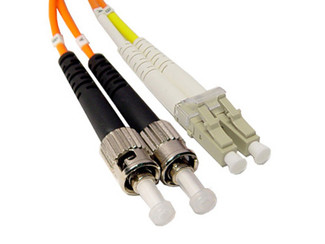 LC to ST - Multimode Duplex Fiber Optic Patch Cable