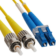 LC to ST Singlemode Duplex Fiber Optic Cable