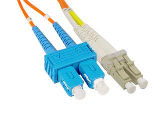 SC to LC Multimode Duplex Fiber Optic Patch Cable