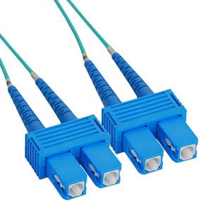 OM3 SC to LC Multimode Duplex Fiber Optic Cable - 50 meters