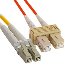 OM2 SC to LC Multimode Duplex Fiber Optic Cable - 1 meter