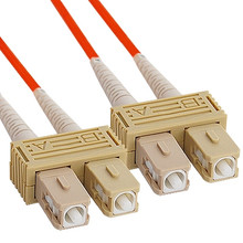 OM2 SC to SC Multimode Duplex Fiber Optic Cable - 15 meters