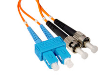 SC to ST Multimode Duplex fiber optic patch cable