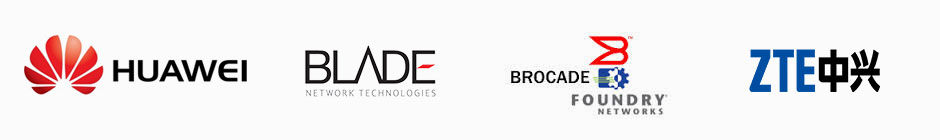 Huawei, Blade, Brocade-Foundry, and ZTE Logos