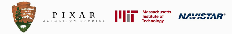Park Service, Pixar, MIT, and Navistar Logos