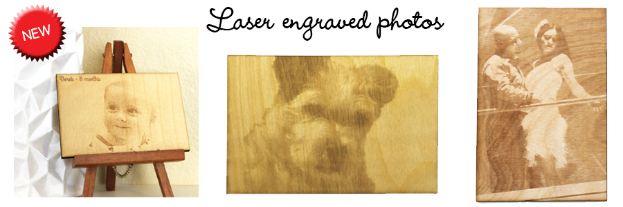 Laser engraved phtoos
