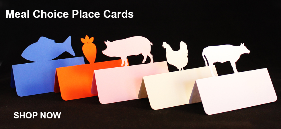 Meal choice place cards