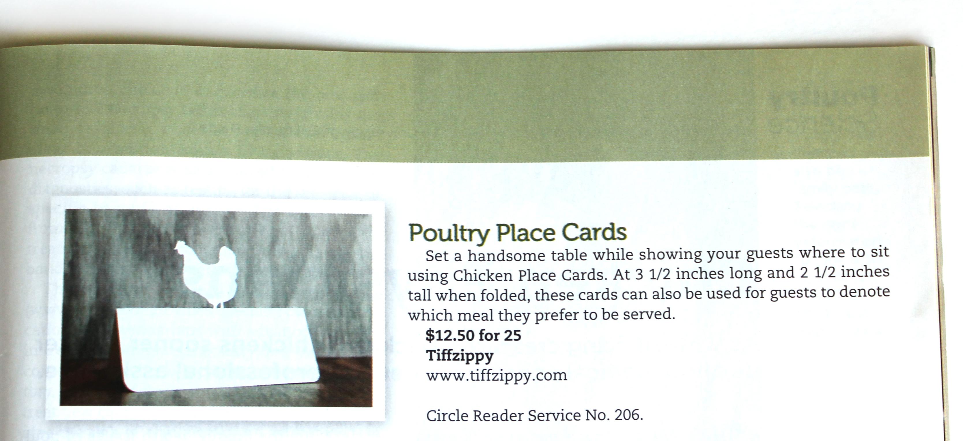 Chicken Place Card