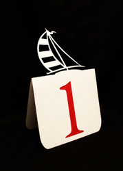 Sailboat table number