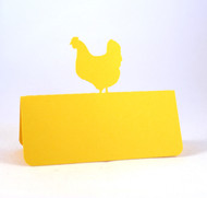 Chicken place card - shown in yellow