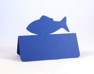 Fish place card - royal blue