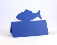 Fish place card - royal blue