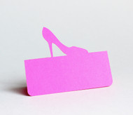 High heel place card - shown in hot pink