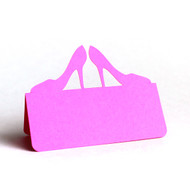 High Heels Place Card - shown in hot pink