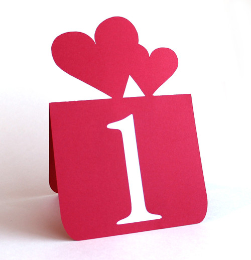 Double heart table number