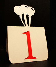 Balloons table number