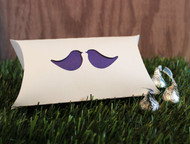 Love bird pillow favor box