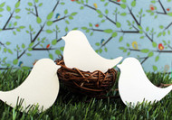 Love bird place card - flat