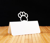 Paw print place card
