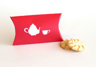 Tea party pillow favor box (cookies not included)