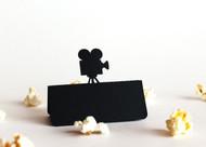 Movie camera place card