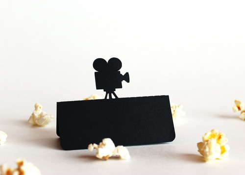 Movie camera place card