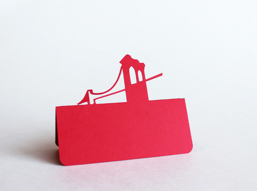 Brooklyn bridge place card