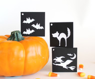 Halloween folded gift tags