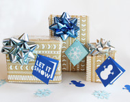 Let it snow gift tag set