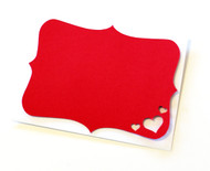 Hearts note card