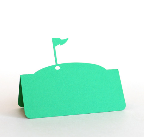 Golf flag place card