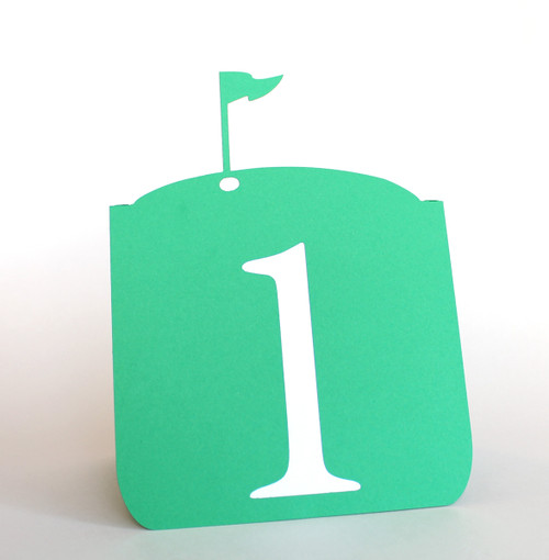 Golf flag table number