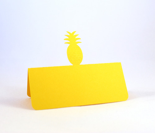 Pineapple place card - shown in yellow