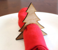 Christmas tree wood napkin ring