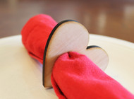 Heart wood napkin ring