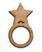 Star wood napkin ring