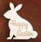 Happy Easter rabbit wood trivet