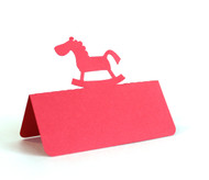Rocking horse place card