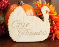 Thanksgiving turkey wood trivet