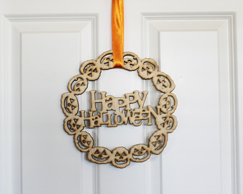 Happy Halloween Jack O Lantern Door Sign