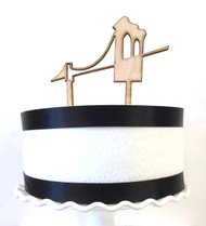 Brooklyn Bridge cake topper - wood